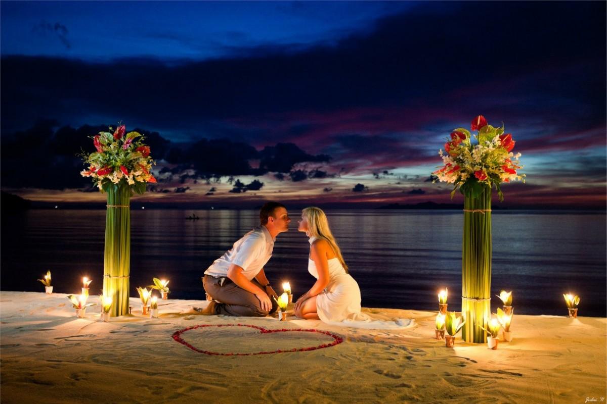освещение в романтический вечер